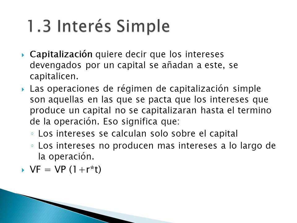 Capitalización quiere decir que los intereses devengados por un capital se añadan a este, se capitalicen. Las operaciones de régimen de capitalización