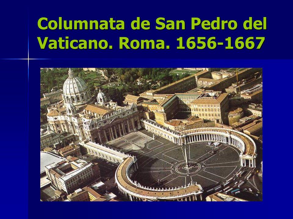 Columnata de San Pedro del Vaticano. Roma. 1656-1667