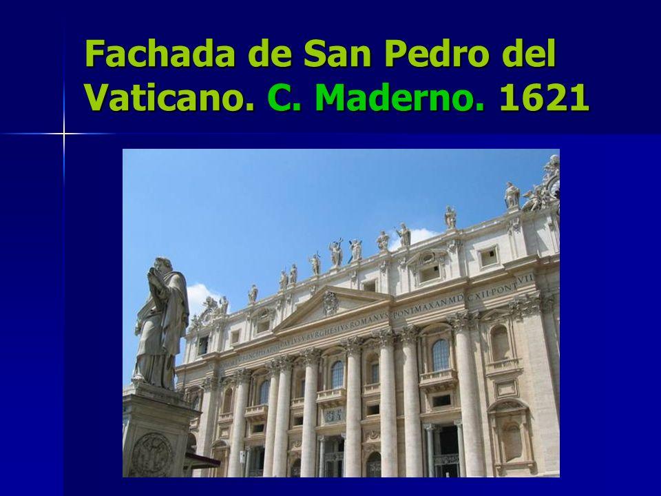 Fachada de San Pedro del Vaticano. C. Maderno. 1621