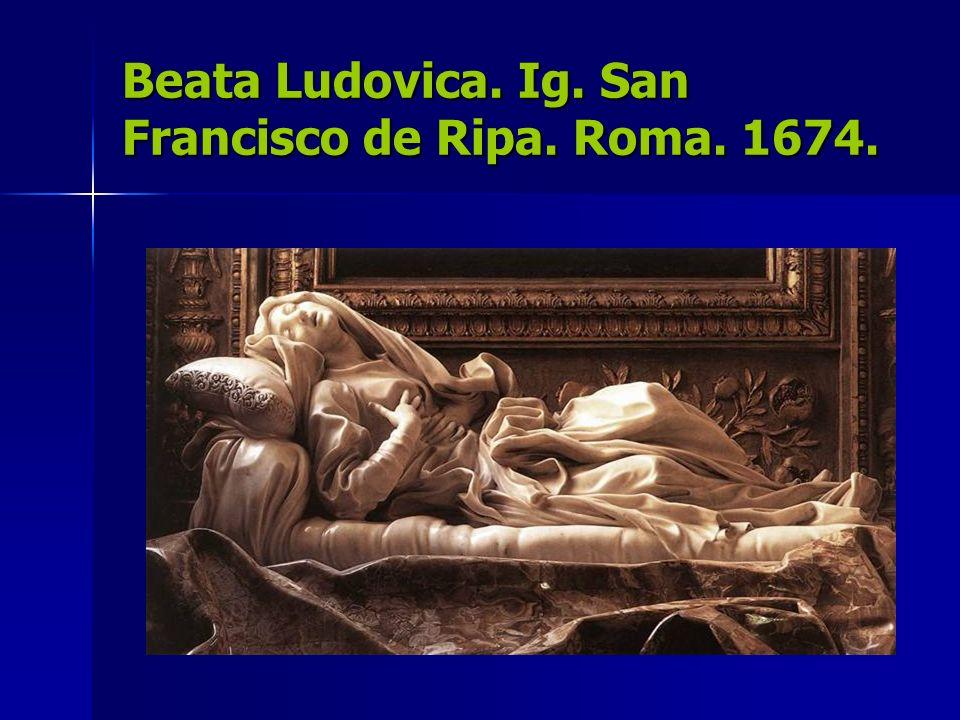 Beata Ludovica. Ig. San Francisco de Ripa. Roma. 1674.