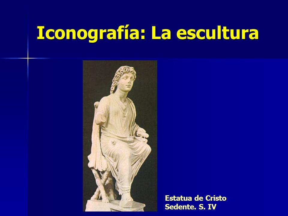 Iconografía: La escultura Estatua de Cristo Sedente. S. IV