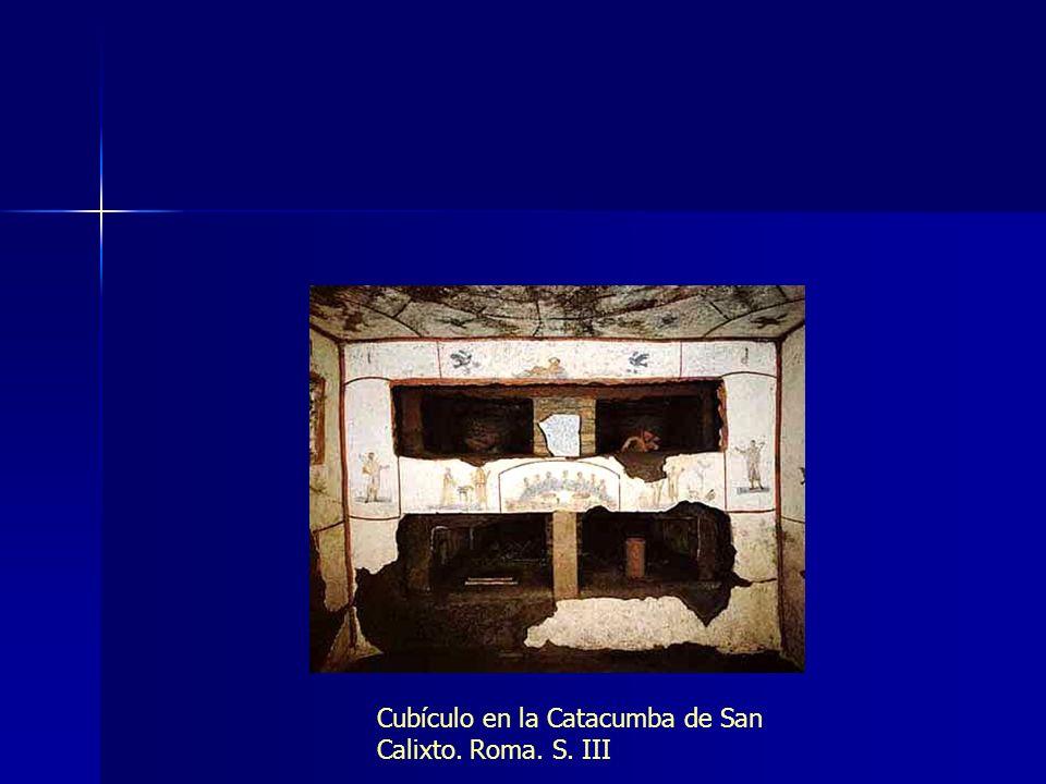 Cubículo en la Catacumba de San Calixto. Roma. S. III