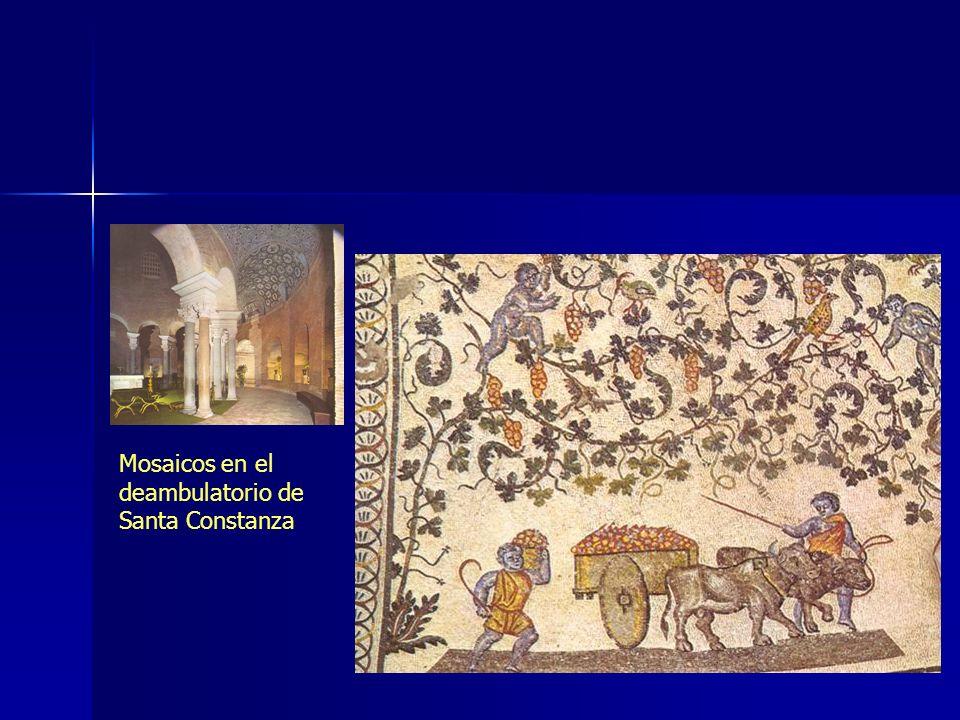 Mosaicos en el deambulatorio de Santa Constanza