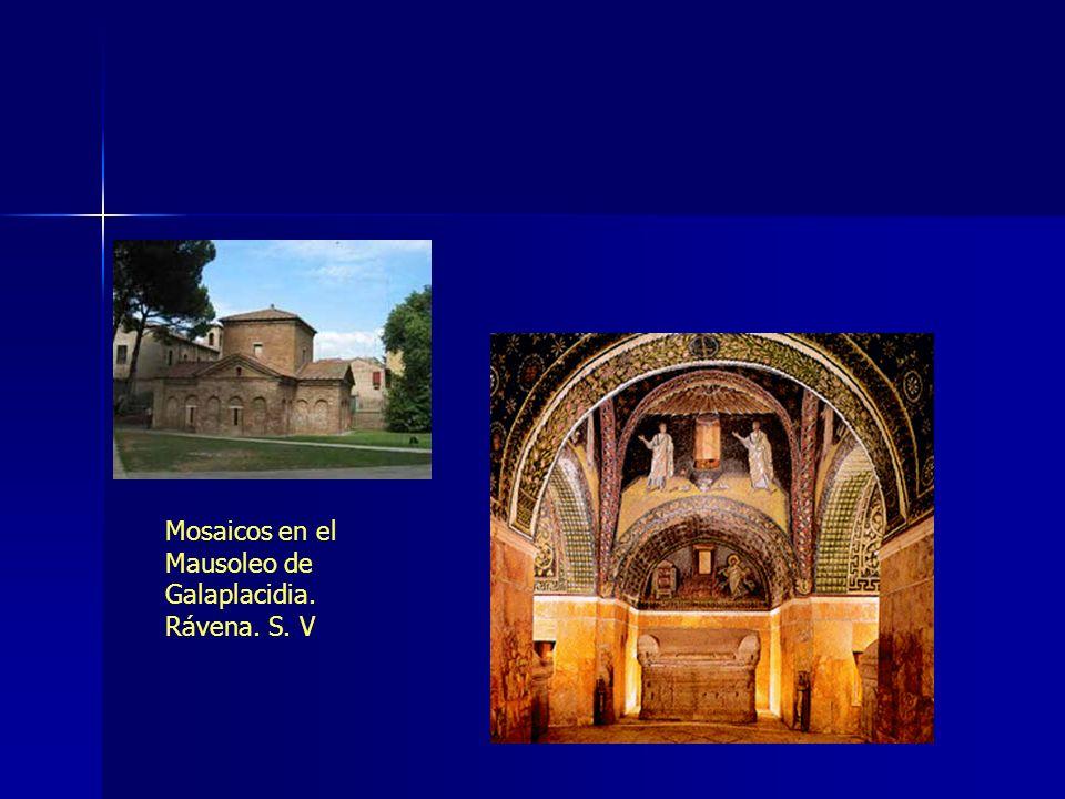 Mosaicos en el Mausoleo de Galaplacidia. Rávena. S. V