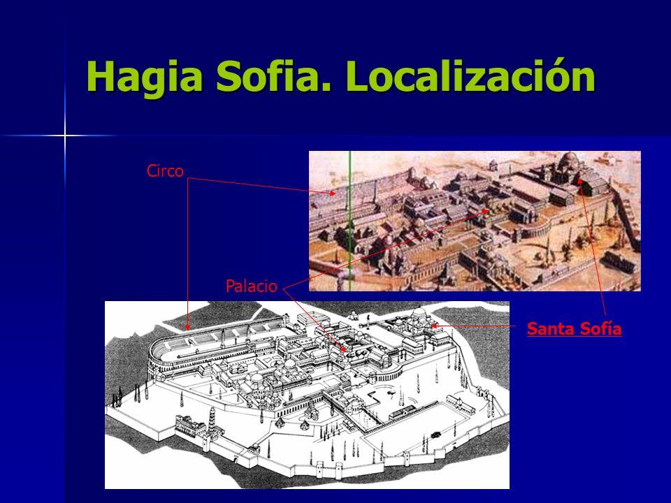 Hagia Sofia. Localización Santa Sofía Circo Palacio