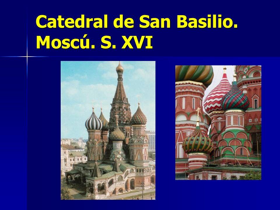 Catedral de San Basilio. Moscú. S. XVI