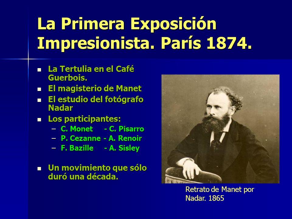 La obra Impresionista de E. MANET Argenteuil. 1868