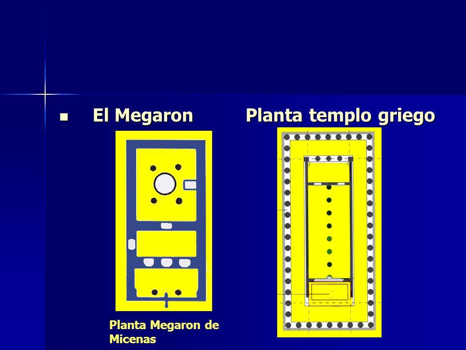 El Megaron Planta templo griego El Megaron Planta templo griego Planta Megaron de Micenas