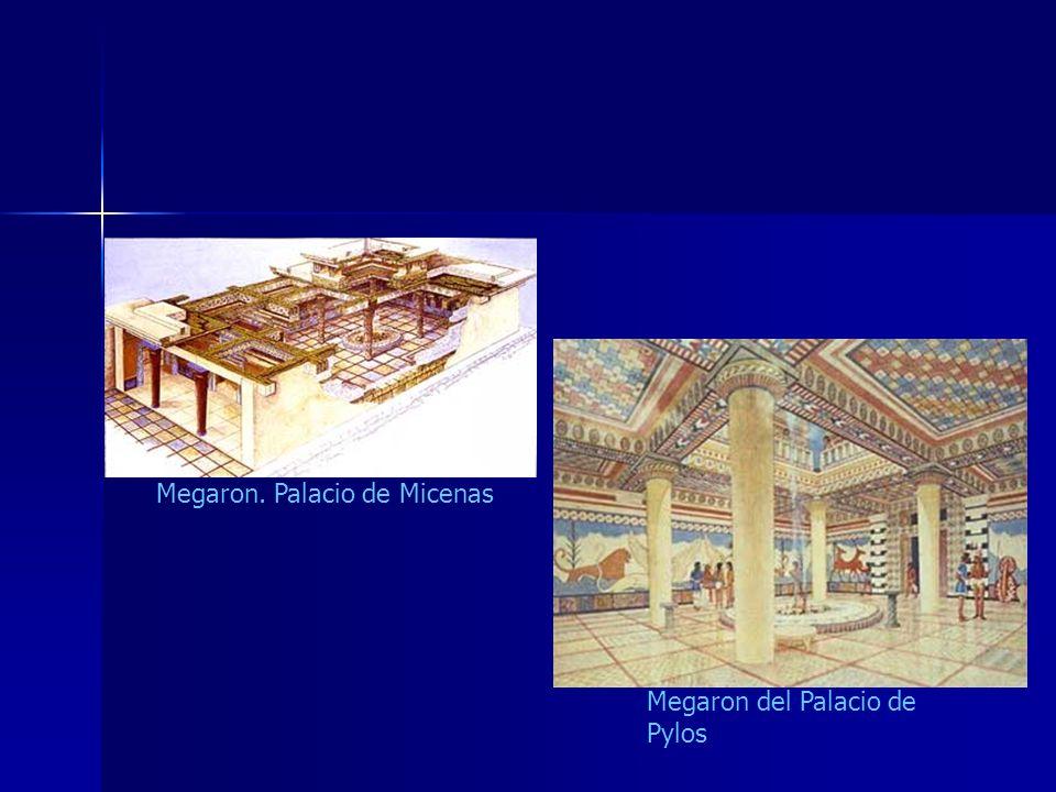 Megaron del Palacio de Pylos Megaron. Palacio de Micenas