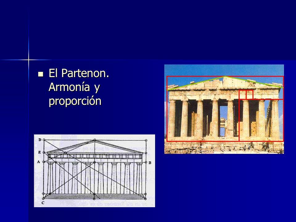 El Partenon. Armonía y proporción El Partenon. Armonía y proporción