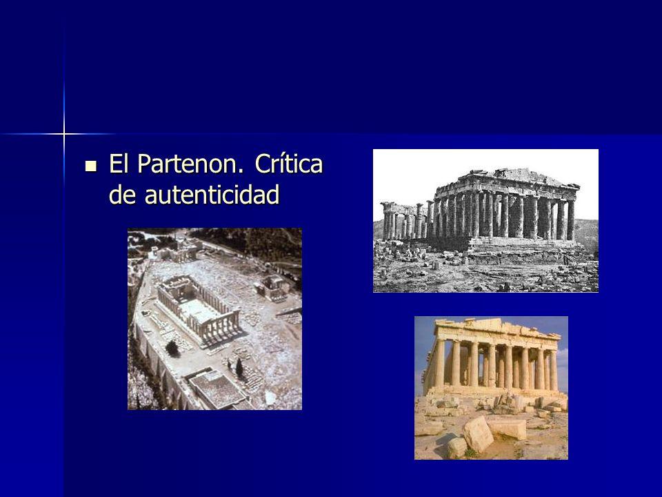 El Partenon. Crítica de autenticidad El Partenon. Crítica de autenticidad