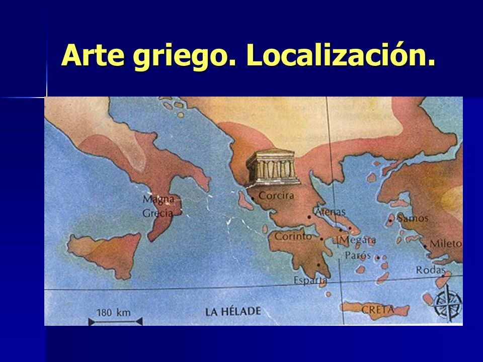Arte griego. Localización.
