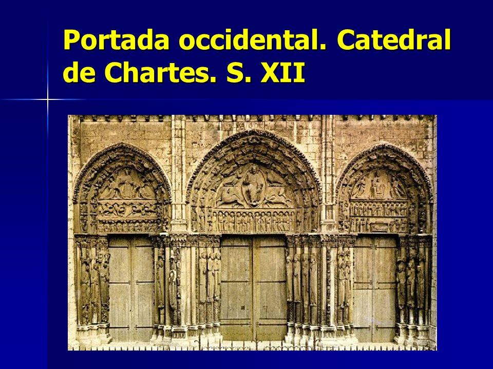 Portada occidental. Catedral de Chartes. S. XII