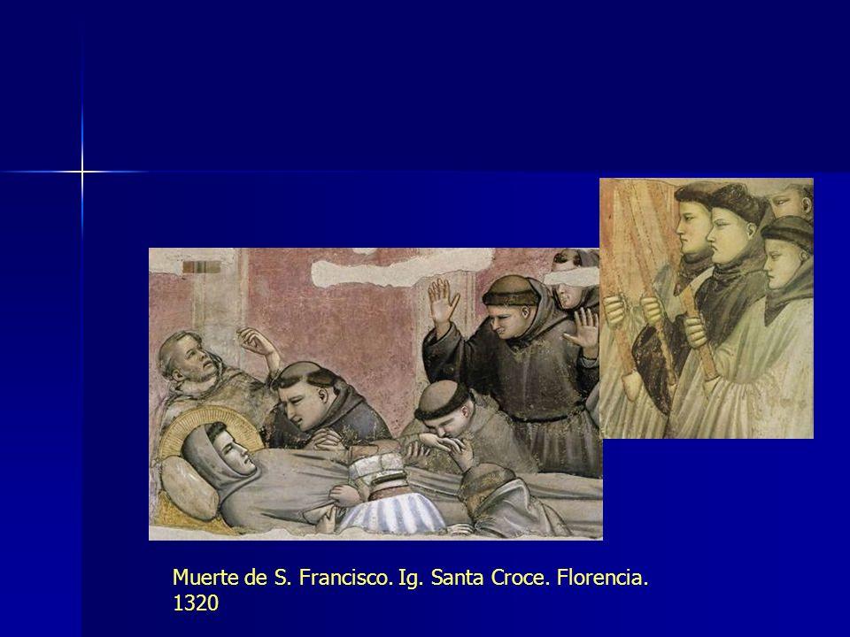 Muerte de S. Francisco. Ig. Santa Croce. Florencia. 1320