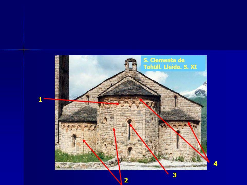 1 2 3 4 S. Clemente de Tahüll. Lleida. S. XI
