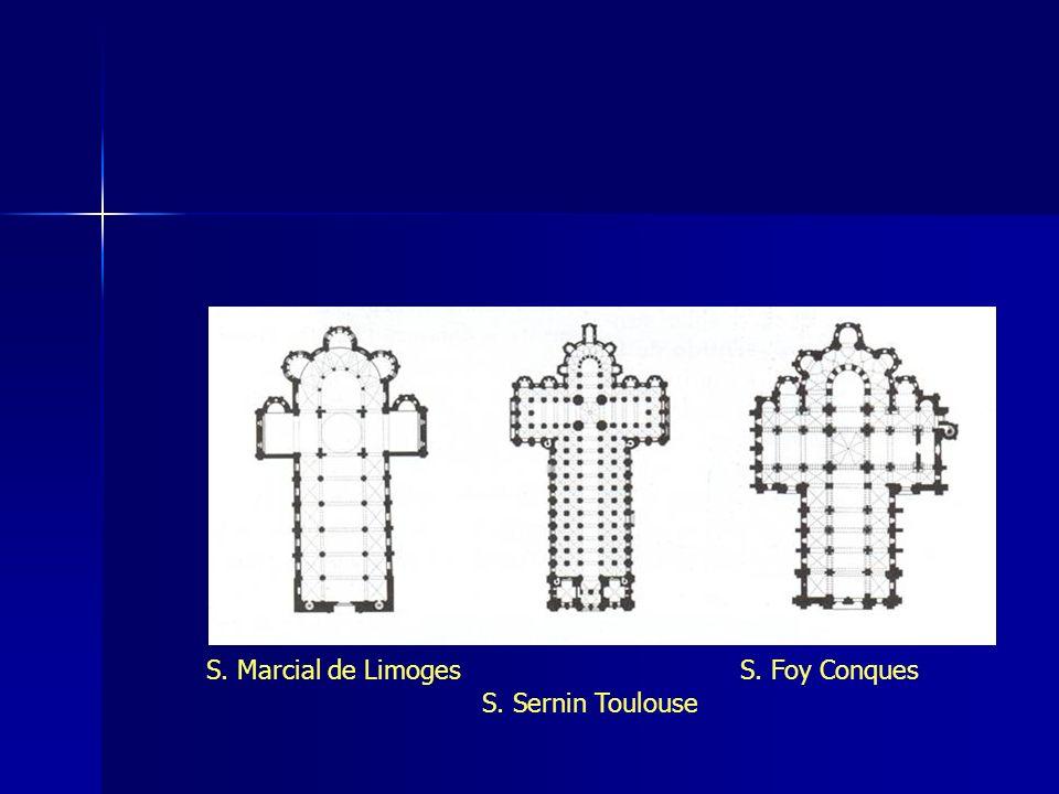 S. Sernin Toulouse S. Foy ConquesS. Marcial de Limoges