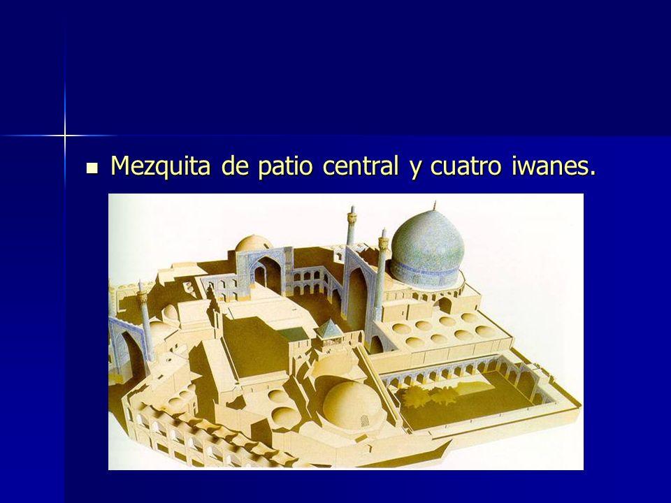 Mezquita de patio central y cuatro iwanes. Mezquita de patio central y cuatro iwanes.