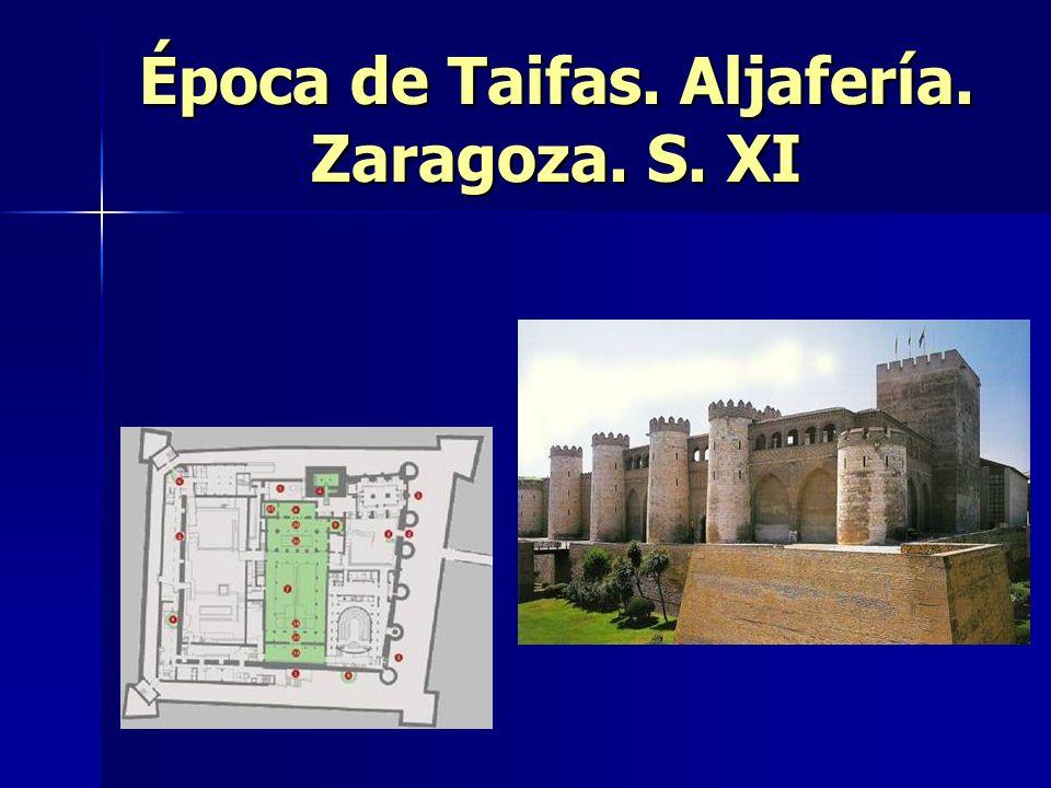 Época de Taifas. Aljafería. Zaragoza. S. XI