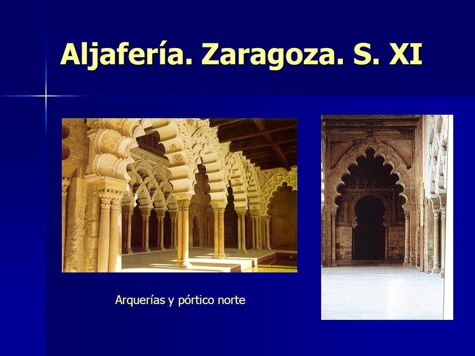 Aljafería. Zaragoza. S. XI Arquerías y pórtico norte