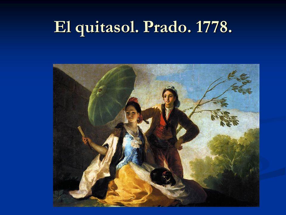 El quitasol. Prado. 1778.