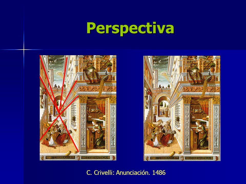 Perspectiva C. Crivelli: Anunciación. 1486