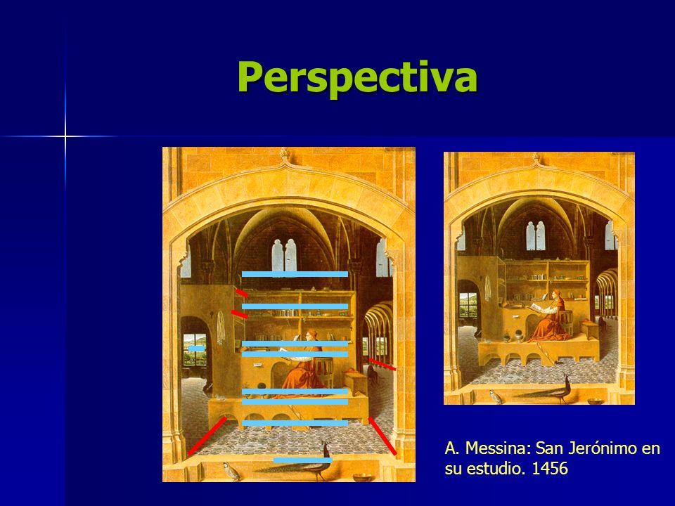 Perspectiva A. Messina: San Jerónimo en su estudio. 1456