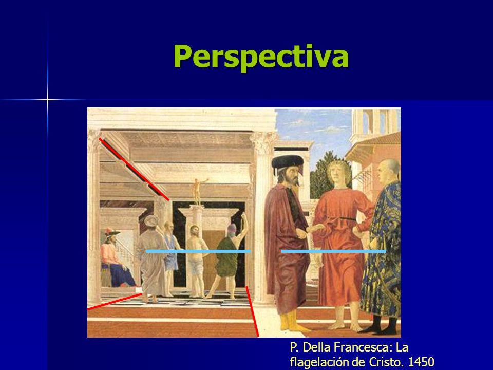 Perspectiva P. Della Francesca: La flagelación de Cristo. 1450