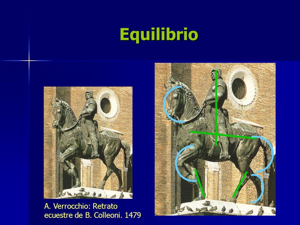 Equilibrio A. Verrocchio: Retrato ecuestre de B. Colleoni. 1479