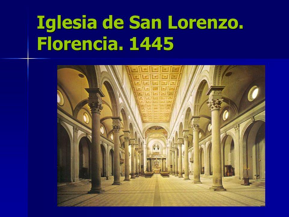 Iglesia de San Lorenzo. Florencia. 1445