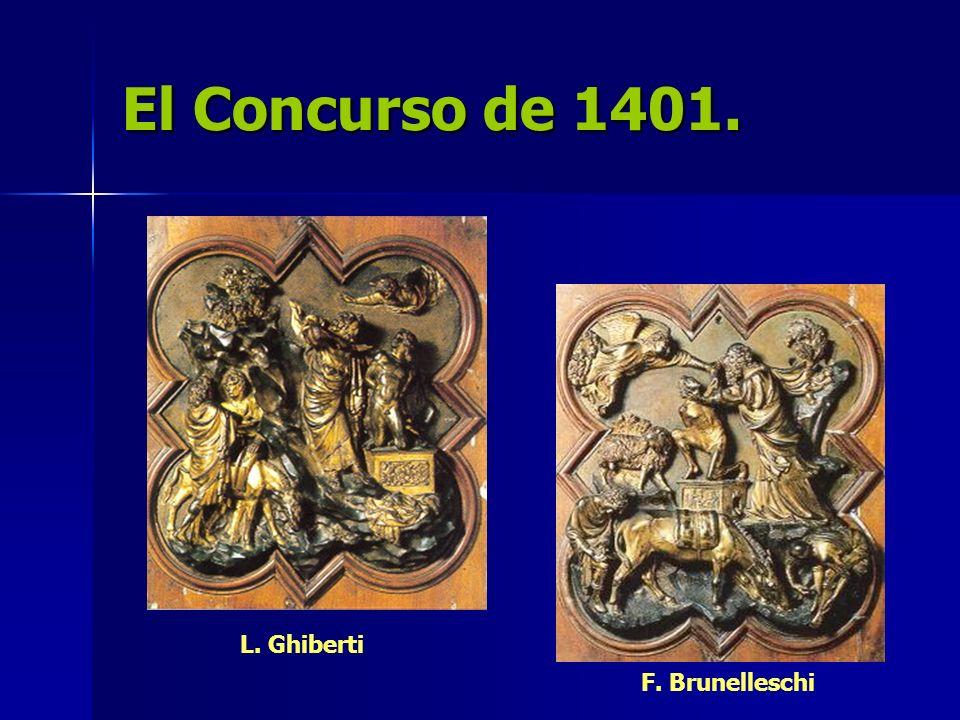 El Concurso de 1401. L. Ghiberti F. Brunelleschi