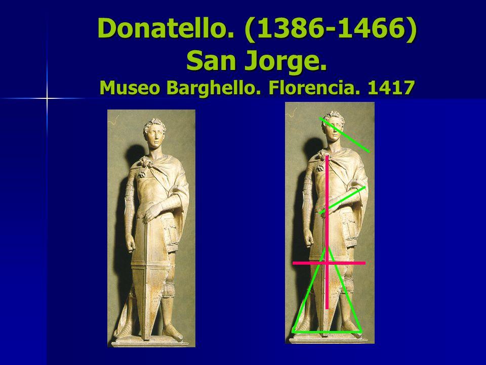 Donatello. (1386-1466) San Jorge. Museo Barghello. Florencia. 1417