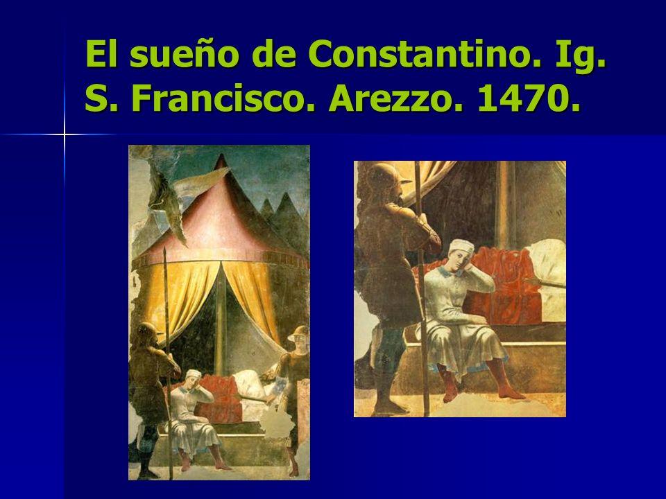 El sueño de Constantino. Ig. S. Francisco. Arezzo. 1470.