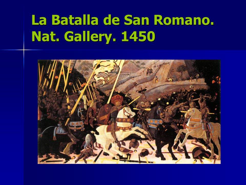 La Batalla de San Romano. Nat. Gallery. 1450