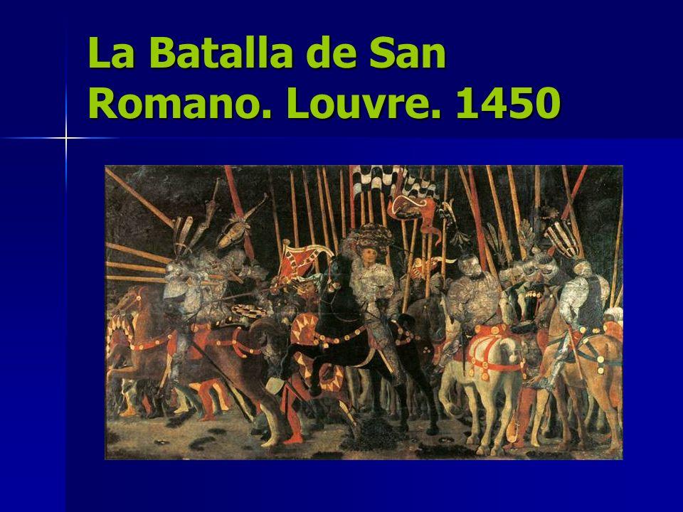 La Batalla de San Romano. Louvre. 1450