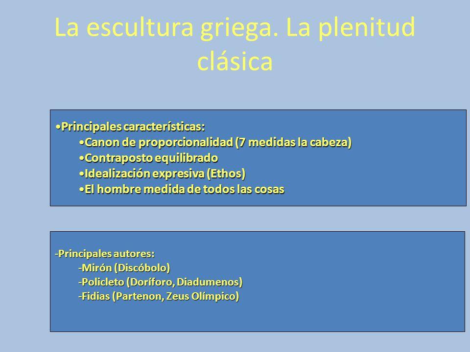 Principales características:Principales características: Canon de proporcionalidad (7 medidas la cabeza)Canon de proporcionalidad (7 medidas la cabeza