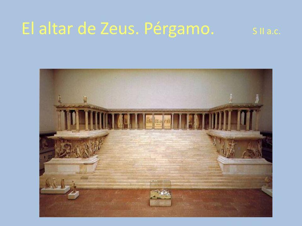 El altar de Zeus. Pérgamo. S II a.c.
