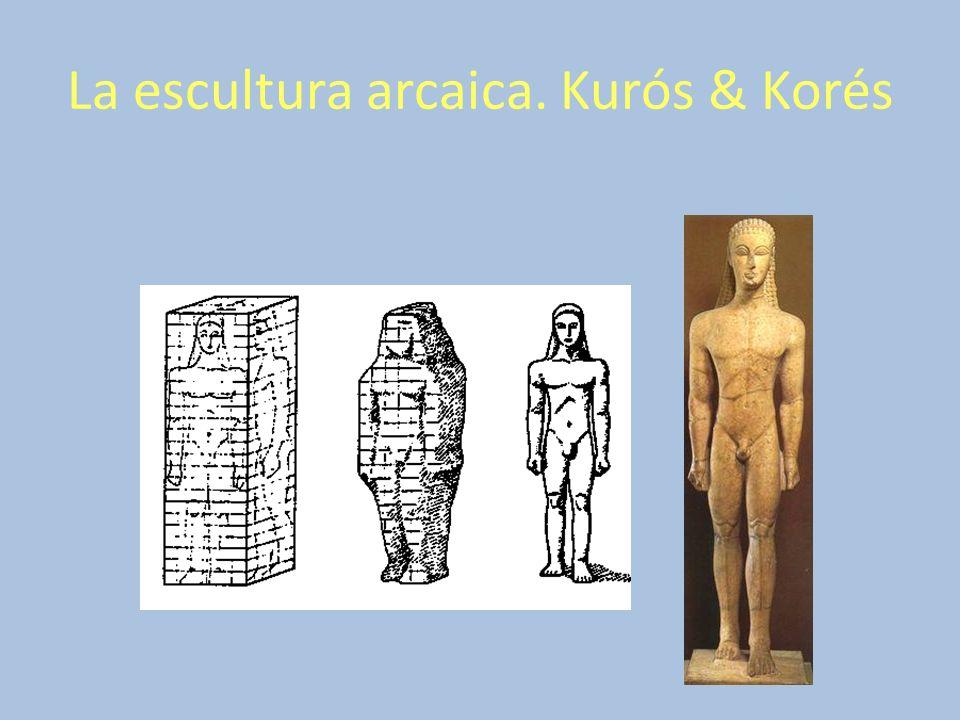 La escultura arcaica. Kurós & Korés