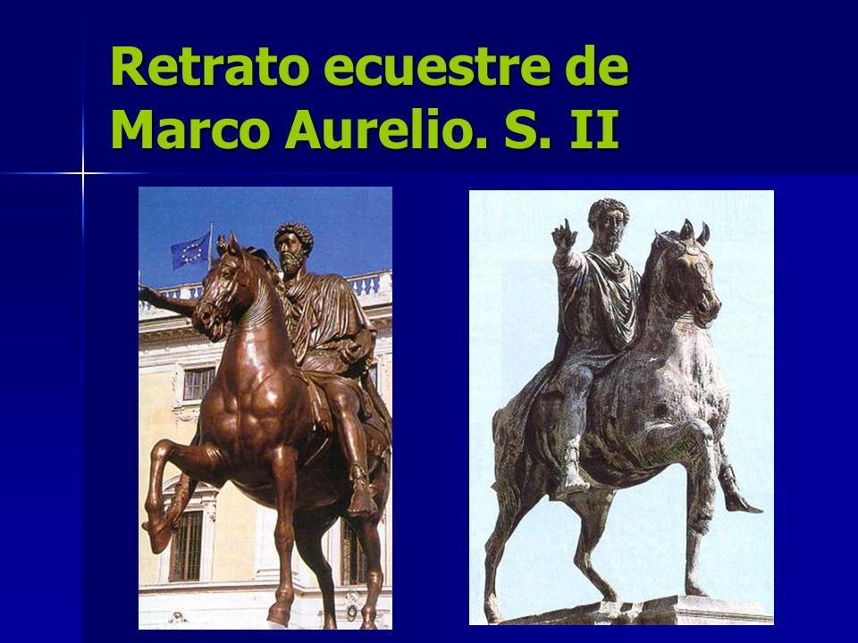 Retrato ecuestre de Marco Aurelio. S. II
