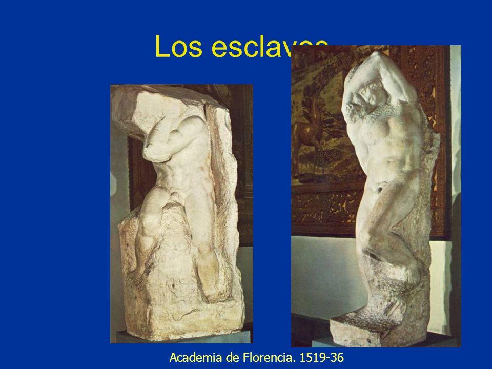 Los esclavos. Academia de Florencia. 1519-36
