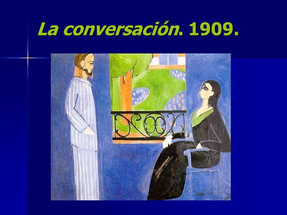 La conversación. 1909.