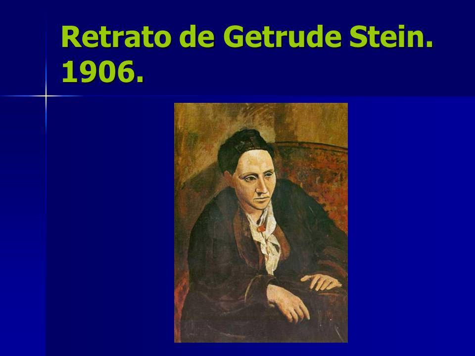 Retrato de Getrude Stein. 1906.