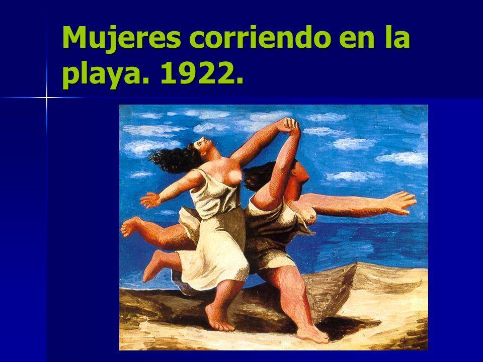 Mujeres corriendo en la playa. 1922.