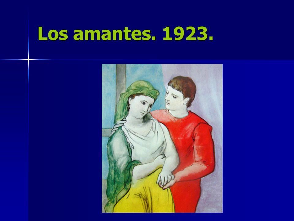 Los amantes. 1923.