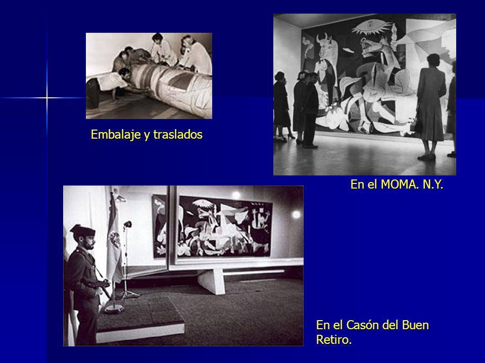 Embalaje y traslados En el MOMA. N.Y. En el Casón del Buen Retiro.