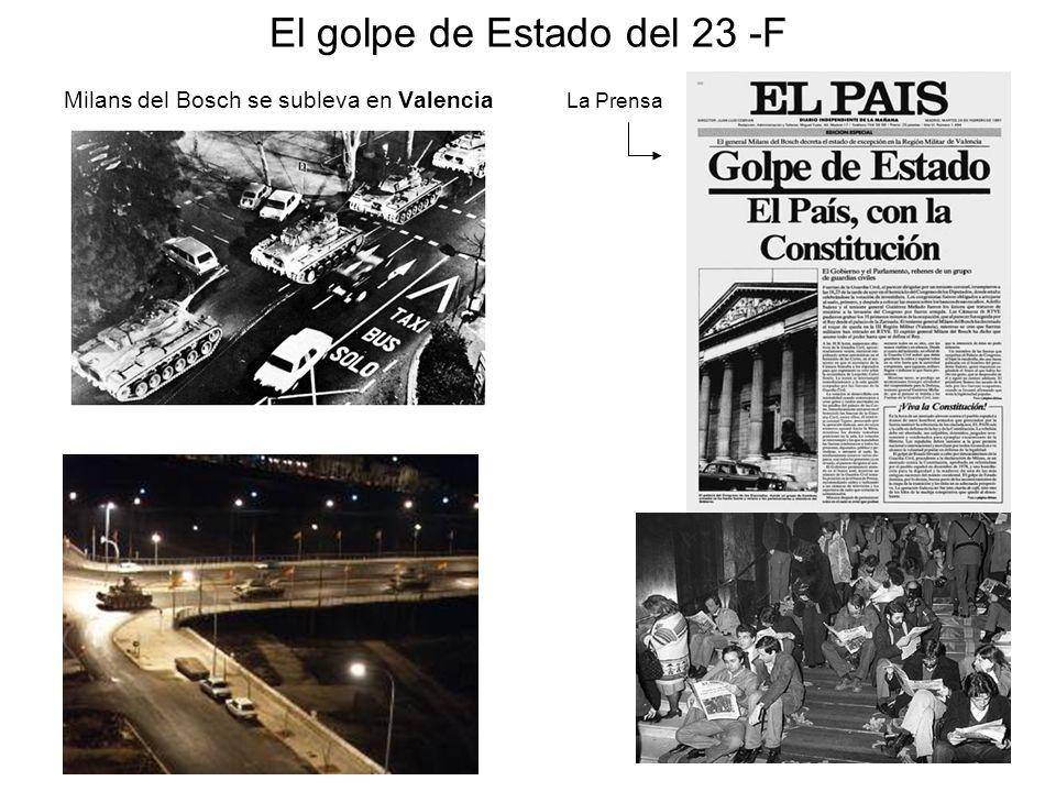 El golpe de Estado del 23 -F Milans del Bosch se subleva en Valencia La Prensa