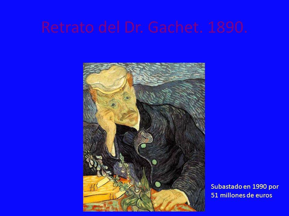 Retrato del Dr. Gachet. 1890. Subastado en 1990 por 51 millones de euros