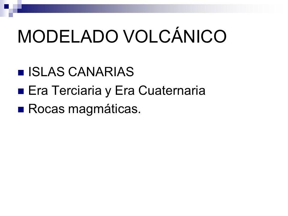 Esquema del relieve canario Modelado volcánico