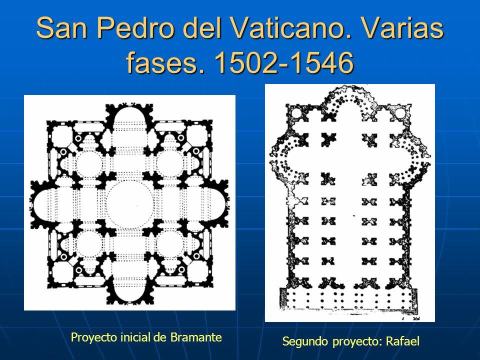San Pedro del Vaticano.Varias fases.