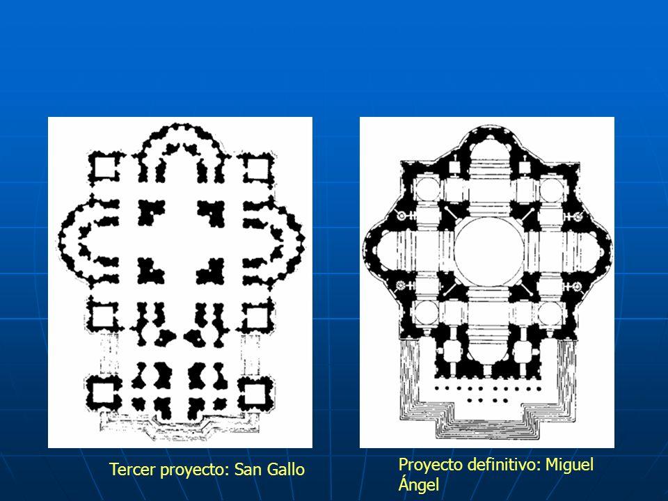 Tercer proyecto: San Gallo Proyecto definitivo: Miguel Ángel