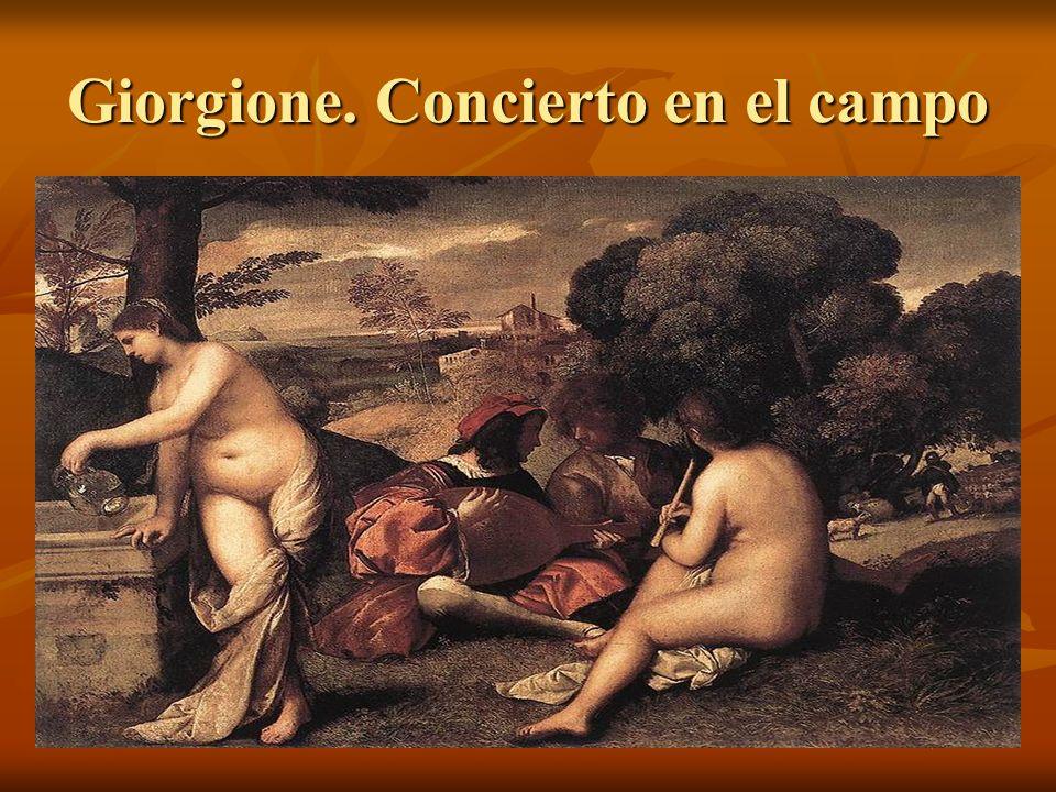 Giorgione. Concierto en el campo
